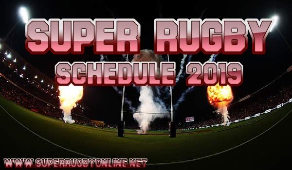 2019 Super Rugby Schedule