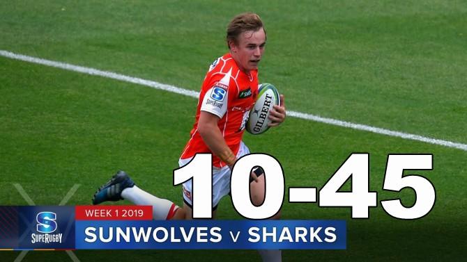 Highlights Round 1 Super Rugby Sunwolves v Sharks 2019