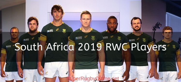 South Africa 2019 Rwc Players