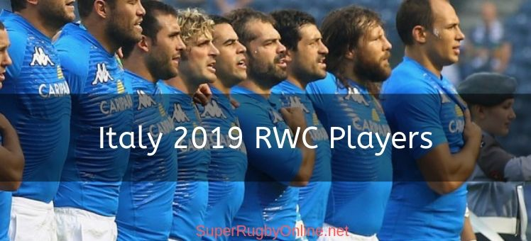 Italy 2019 RWC Players