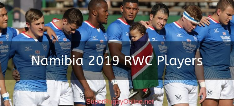 Namibia 2019 RWC Players