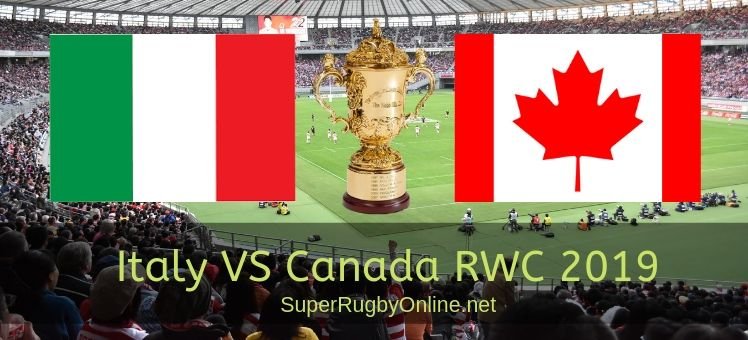 Canada VS Italy RWC 2019 Live Stream