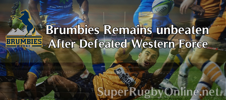 Brumbies made hat trick after a crushed Western Force 2020