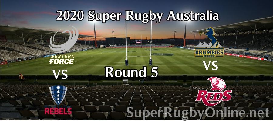 Round 5 Super Rugby AU 2020