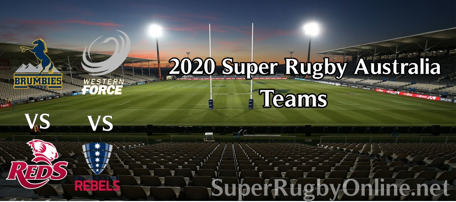Super Rugby AU Team 5 Rounds Line up 2020