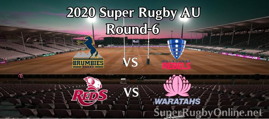 Round 6 Super Rugby AU 2020