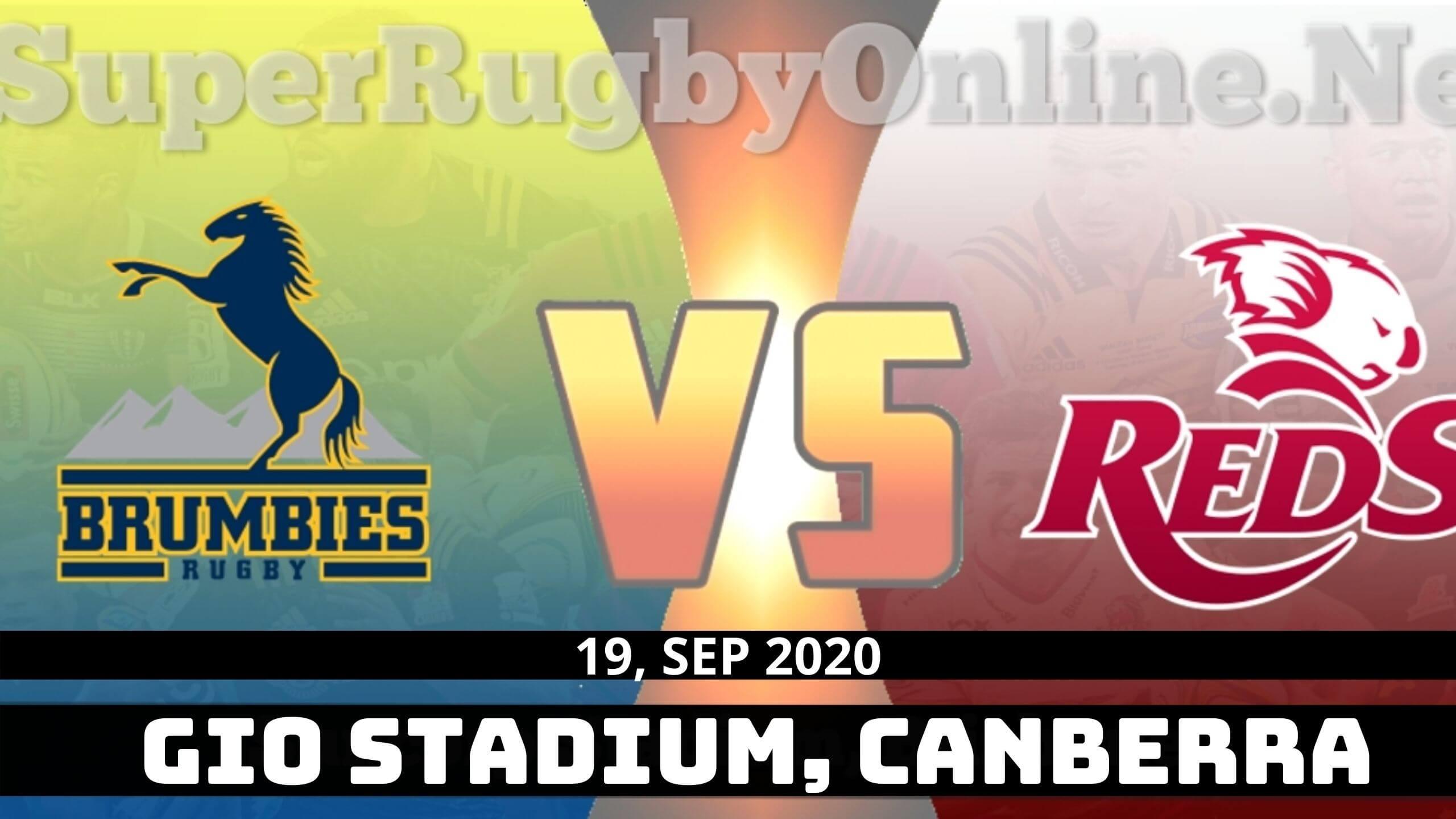 Watch Brumbies vs Queensland Reds Live