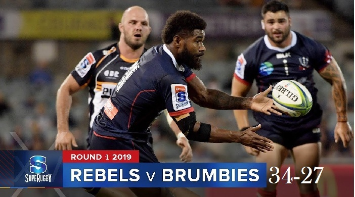 Highlights Round 1 Super Rugby Brumbies VS Rebels 2019