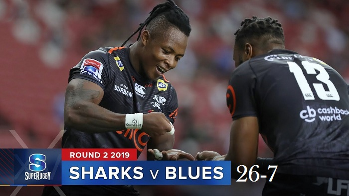 Highlights Round 2 Super Rugby Blues VS Sharks 2019