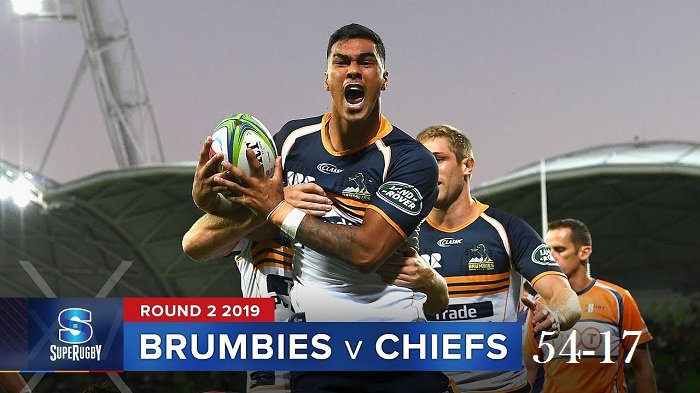 Highlights Round 2 Super Rugby Chiefs VS Brumbies 2019