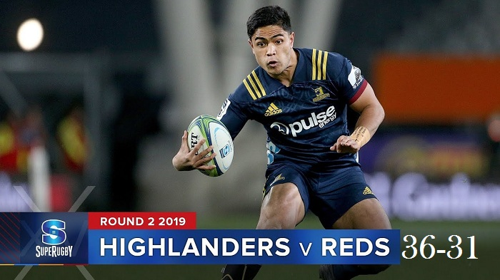 Highlights Round 2 Super Rugby Reds VS Highlanders 2019