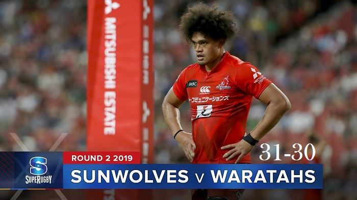 Highlights Round 2 Super Rugby Waratahs VS Sunwolves 2019