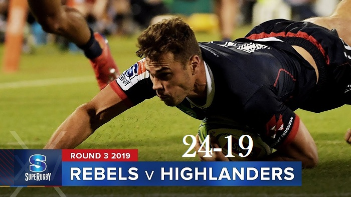 Highlights Round 3 Super Rugby Highlanders VS Rebels 2019