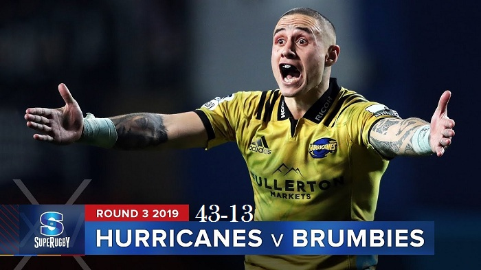 Highlights Round 3 Super Rugby Brumbies VS Hurricanes 2019