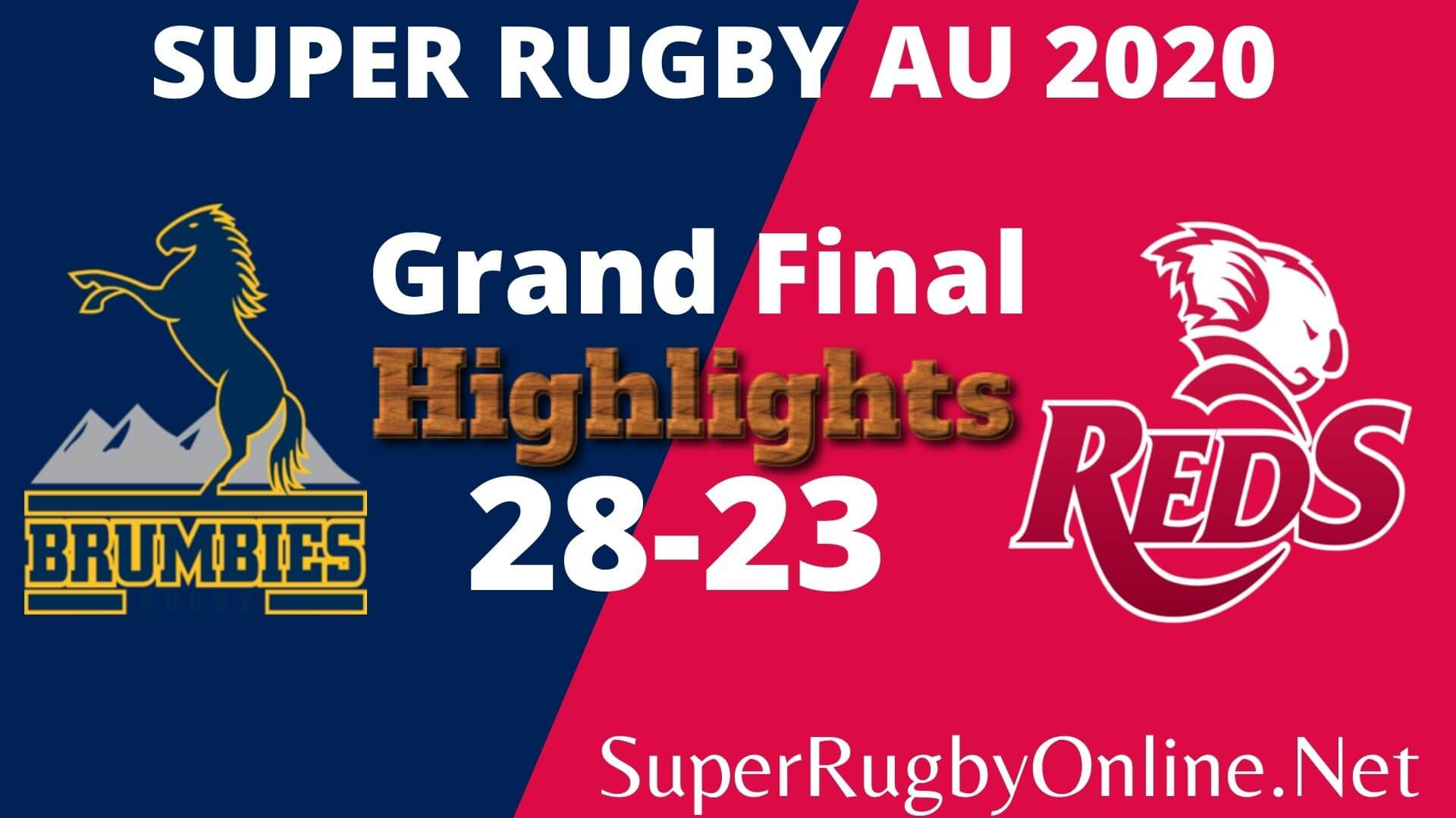 Brumbies Vs Reds Final Highlights 2020 Super Rugby Au