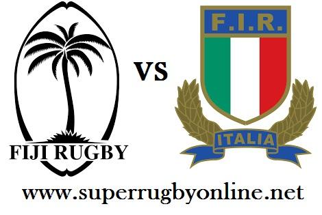 Italy vs Fiji rugby live