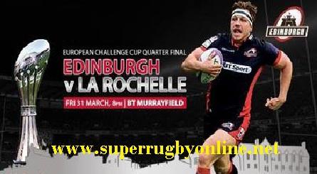La Rochelle vs Edinburgh quaterfinal live