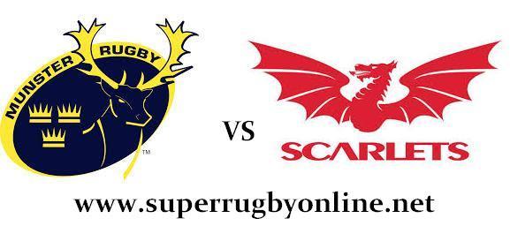 Scarlets vs Munster rugby live