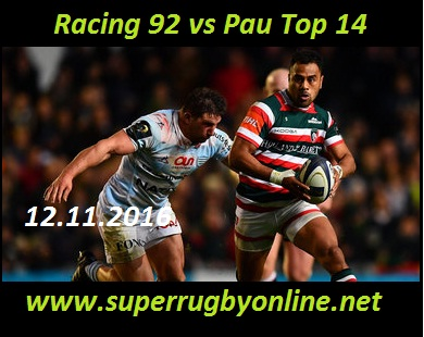 Racing 92 vs Pau
