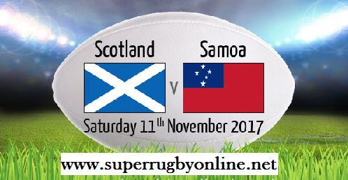 Scotland vs Samoa live