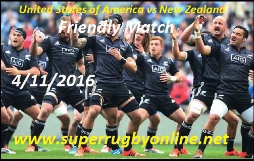USA vs New Zealand live